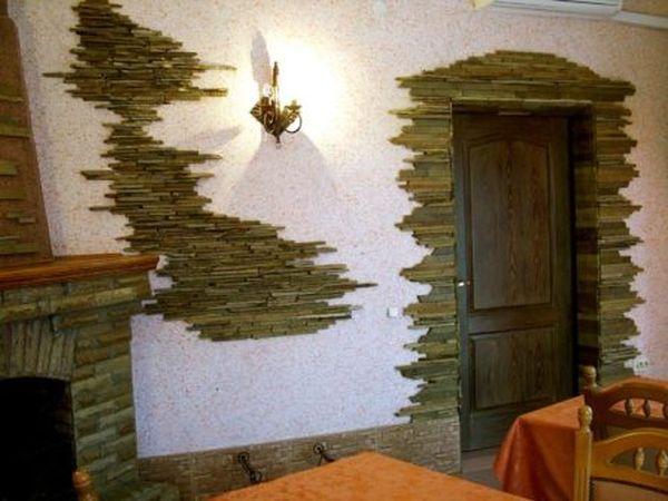 Дизайн стен из дикого камня